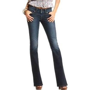 GUESS Low Rise Daredevil Bootcut Blue Jeans